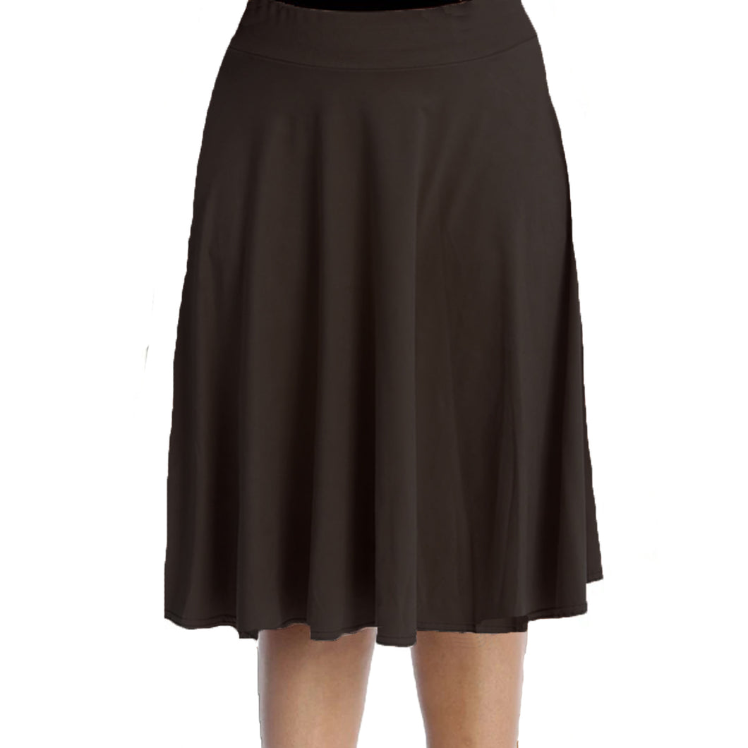 Faux suede elastic Waist Skater Skirt- Plus Sizes too