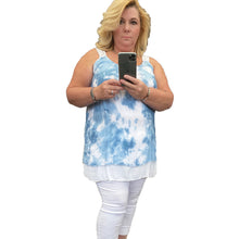 Load image into Gallery viewer, Layered Tye Dye strappy vest / cami top