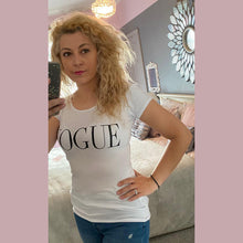 Load image into Gallery viewer, Fitted Vogue t-shirt with various patterns