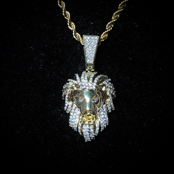Iced Lion Pendant