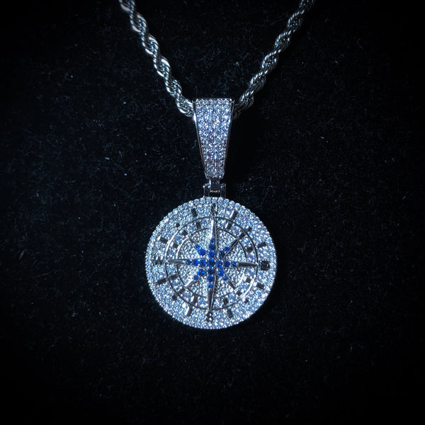 Iced Compass Pendant