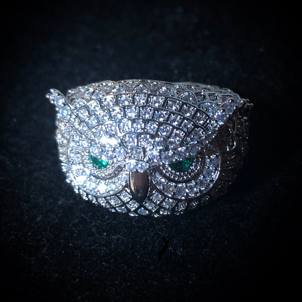 Diamond Owl Ring