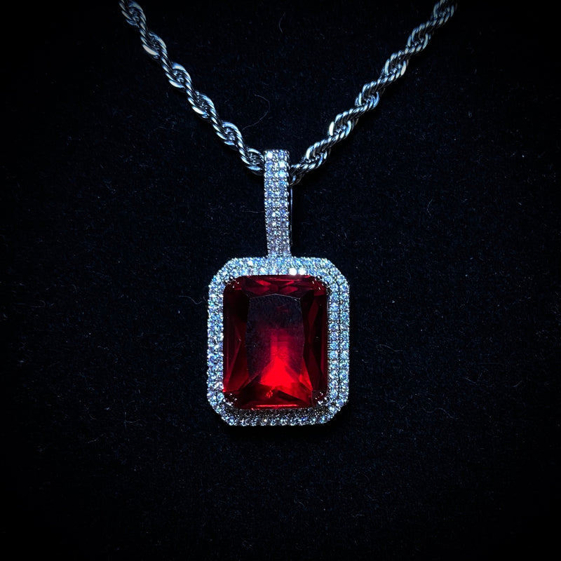 Iced Blood Stone Pendant