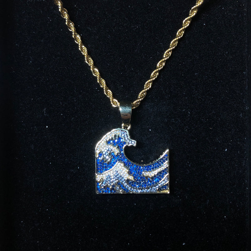 Iced Out Wave Pendant | Ice Mob