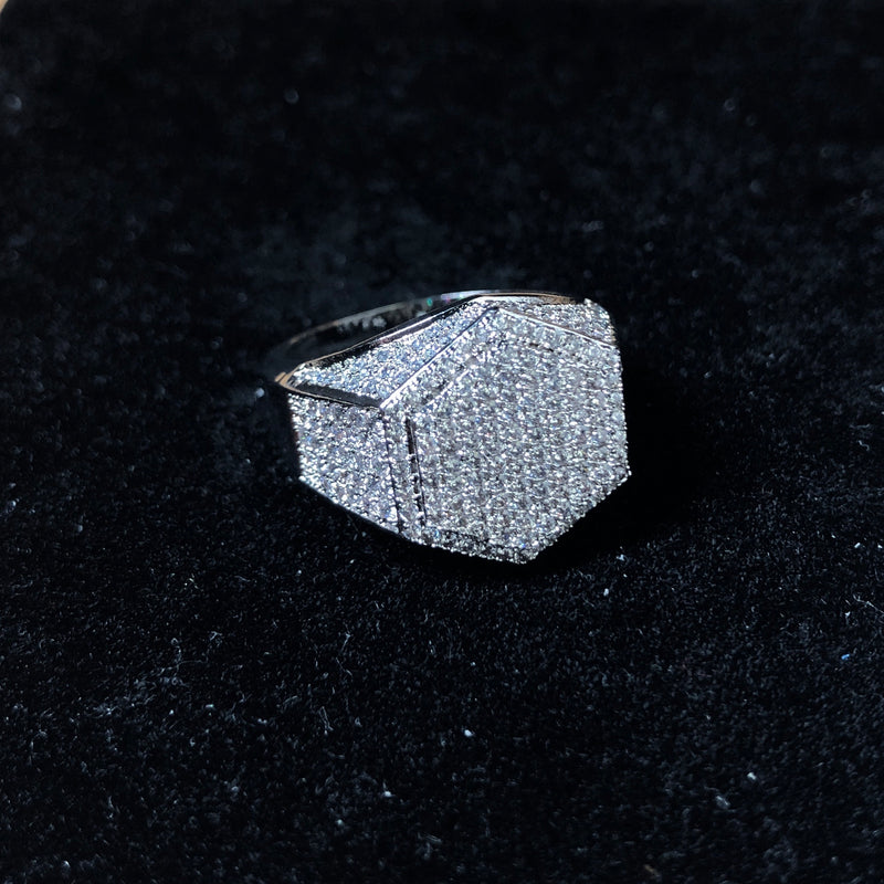 Diamond Hex Ring | Ice Mob