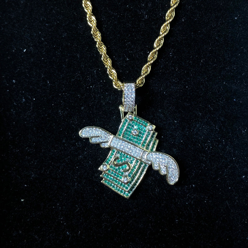 Iced Out Cash Pendant | Ice Mob