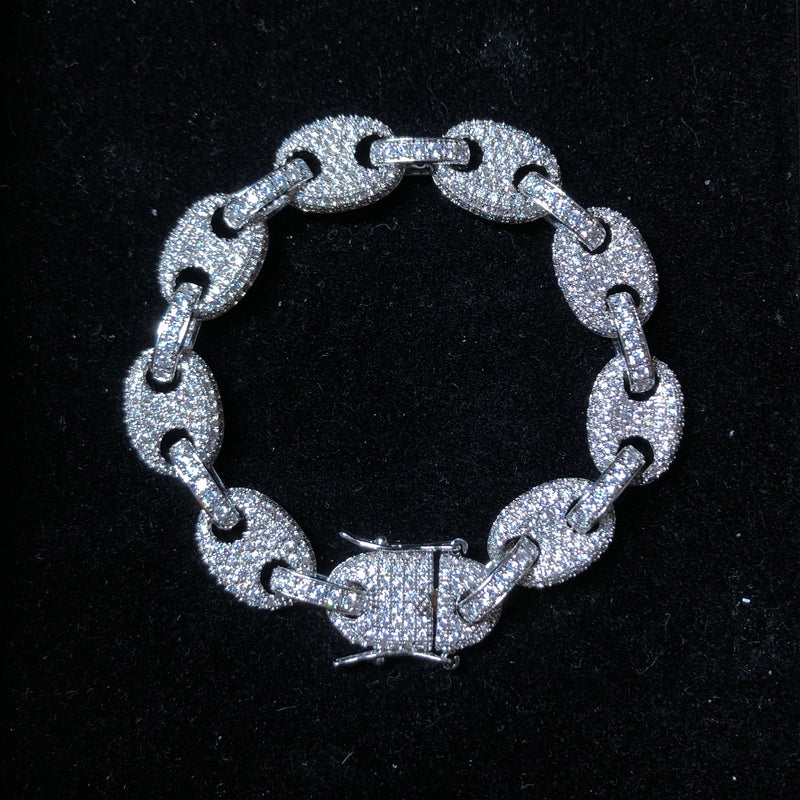 12mm Iced Mariner Link Bracelet