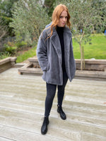 Load image into Gallery viewer, Faux Fur Coat in Grey - Short (REDUCED FURTHER-LAST FEW)!