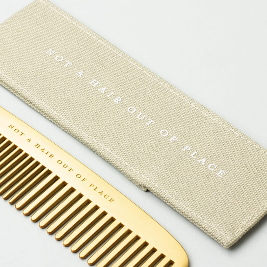 Brass plated Comb - Not a hair out of place