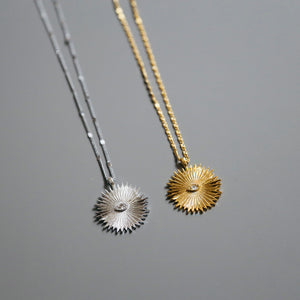 Signature Sunburst Necklace in Silver