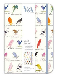 V&A Lined Journal - Comic Birds