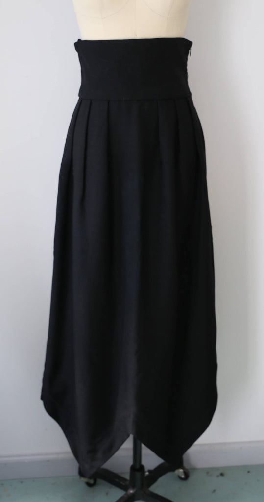 60s PIERRE CARDIN rare collection ultra HIGH waist maxi skirt with point cut hem vintage 1960s 8 med