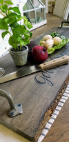 Wood Slice Serving Tray Long