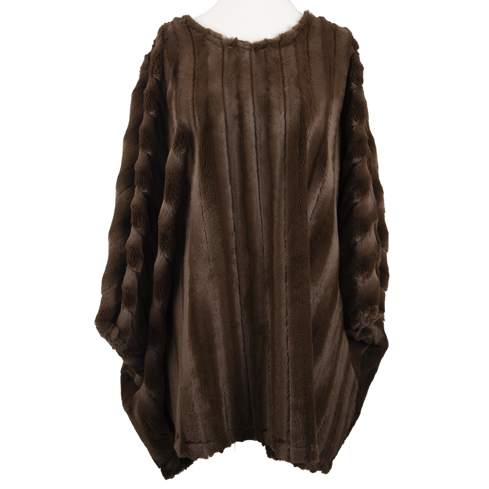 Yana K Poncho Mini Dress Crew Neck