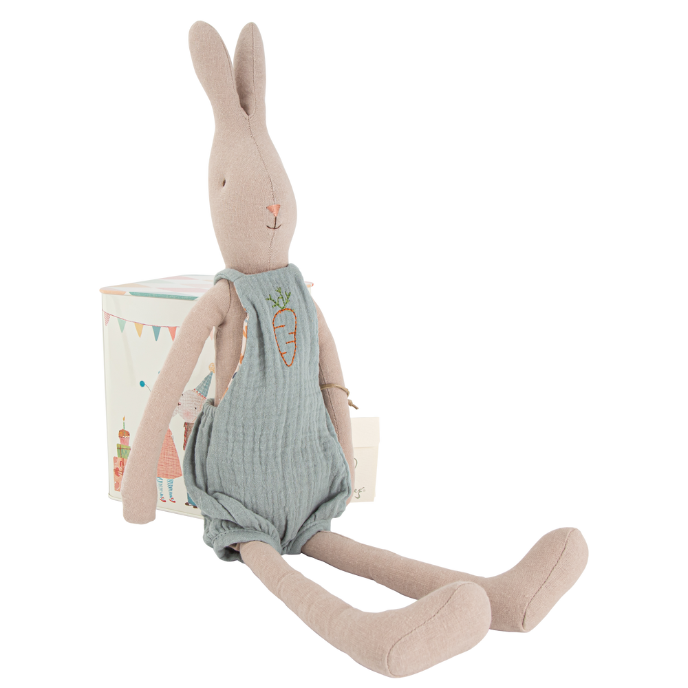 Rabbit Size #3 Blue Overalls