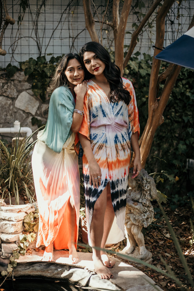 Load image into Gallery viewer, Siren Rainbow Wash Maxi by YFB
