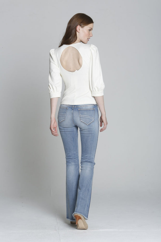 Load image into Gallery viewer, Driftwood Jeans-Isabel Flare Blue Macey