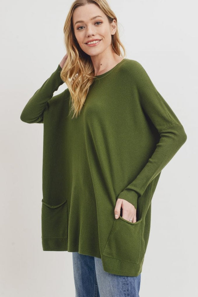 Oversize Sweater With Pockets