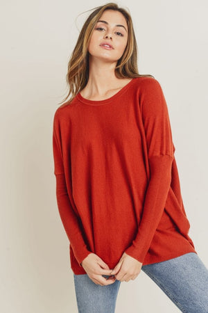 Load image into Gallery viewer, Soft Knit Dolman Sleeve Sweater