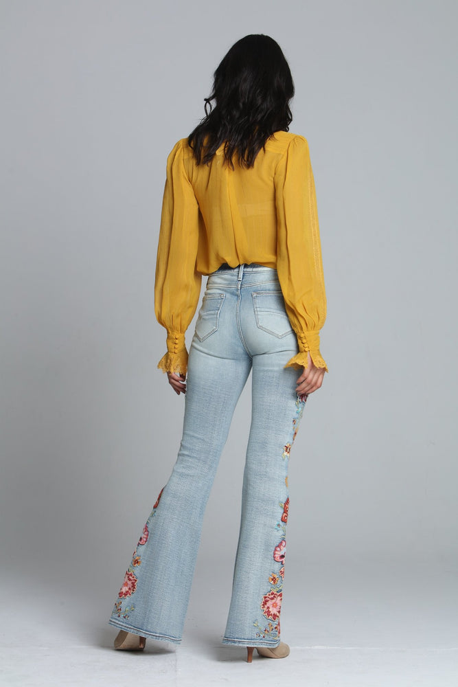 Load image into Gallery viewer, Farrah Flare- Spicy Mango Jeans