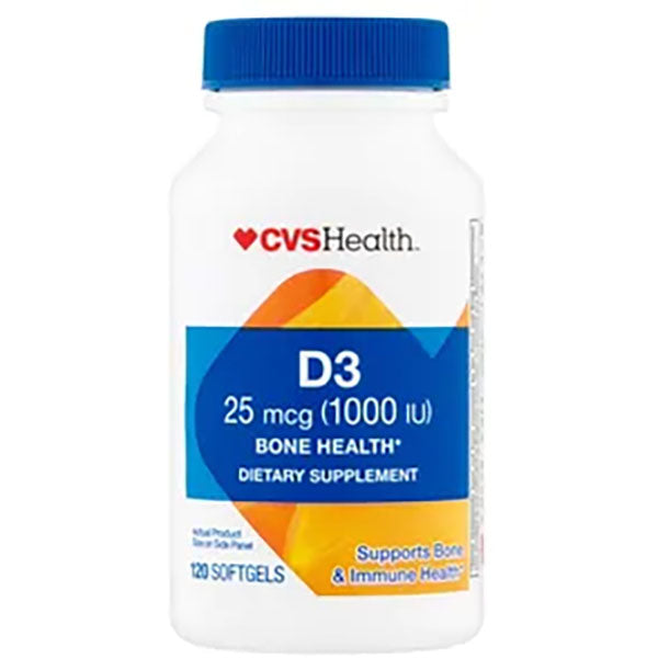 Vitamin D3 (120 Softgels x 1000IU)