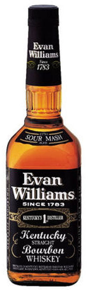 Evan Williams Black Label Bourbon Whiskey (1L)