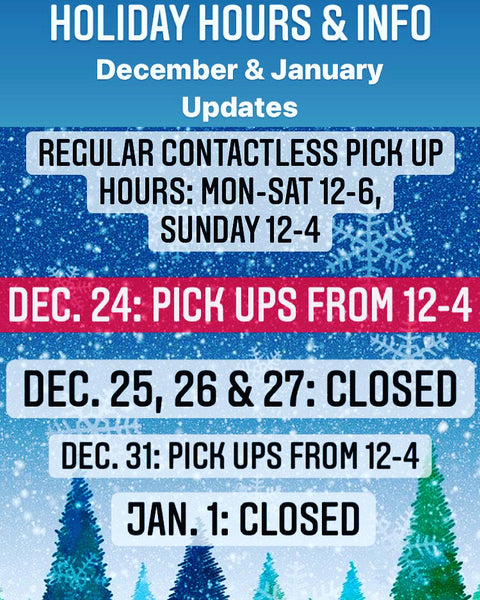 Holiday Pick Up Hours
