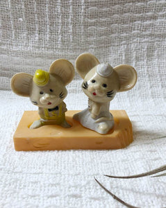 Vintage Mice Salt & Pepper Shakers
