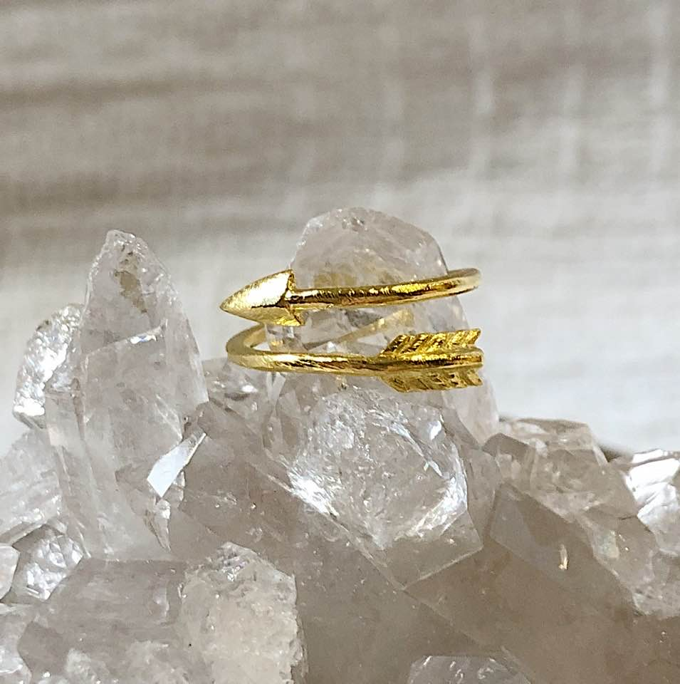 14K Gold-Filled Arrow Ring