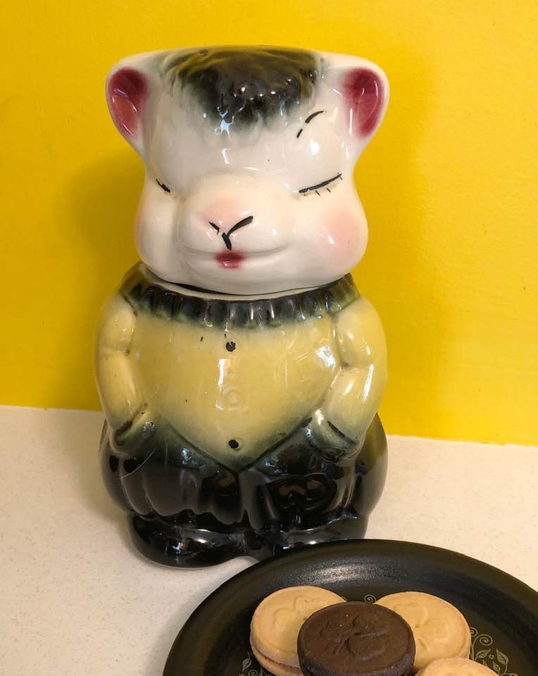 Vintage Ceramic Sheep Cookie Jar