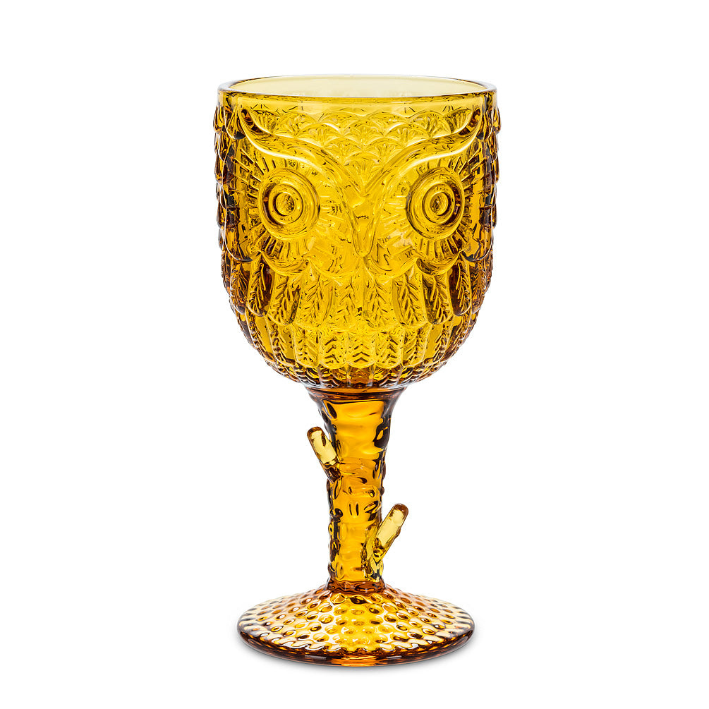 Amber Owl Goblet (Local Pick Up Only, Please)