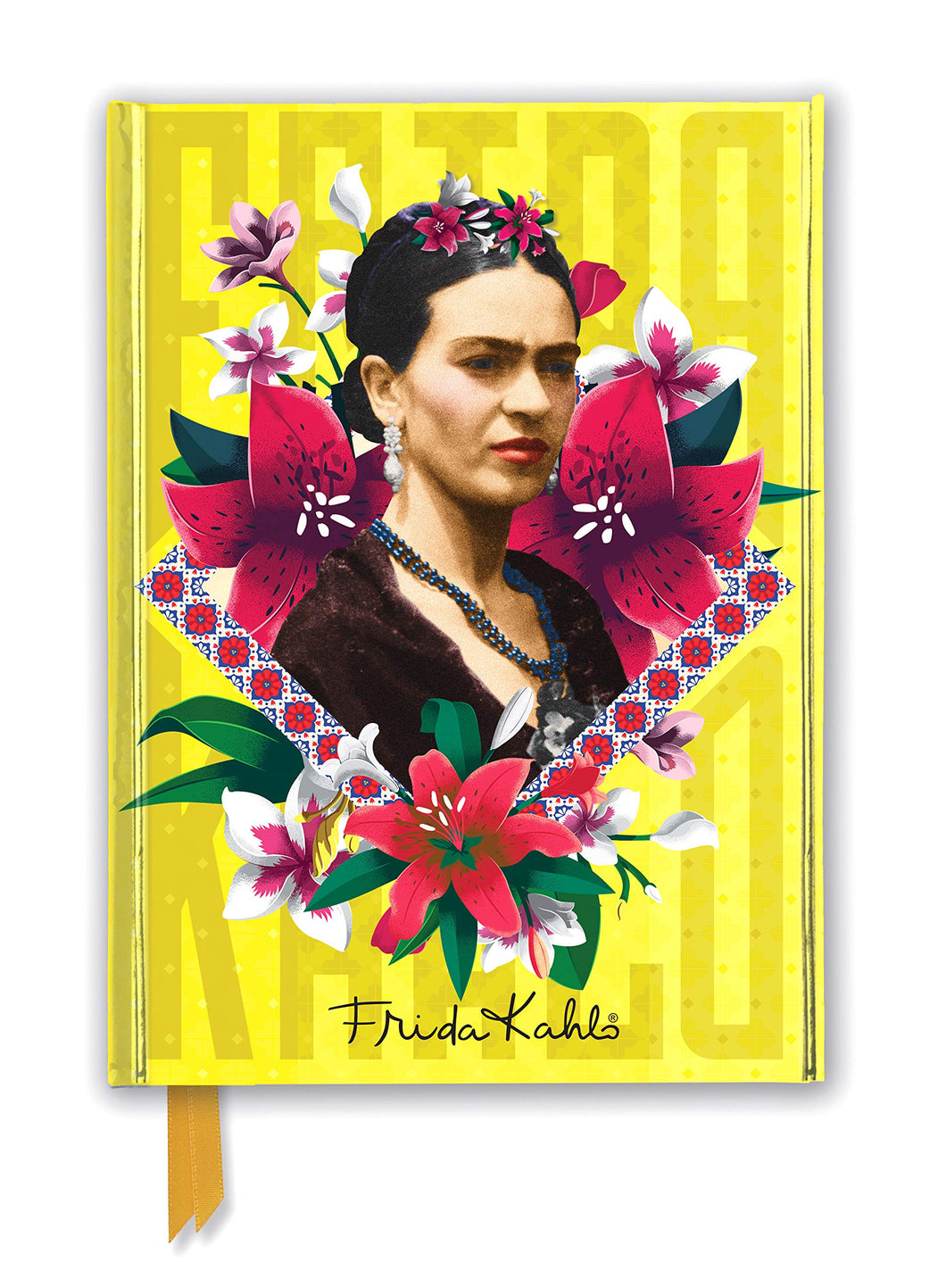 Frida Kahlo Yellow Foiled Journal
