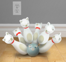 Load image into Gallery viewer, Bowling Alley Cats Small Bowling Set