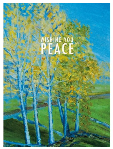Wishing You Peace (Aspen Trees)