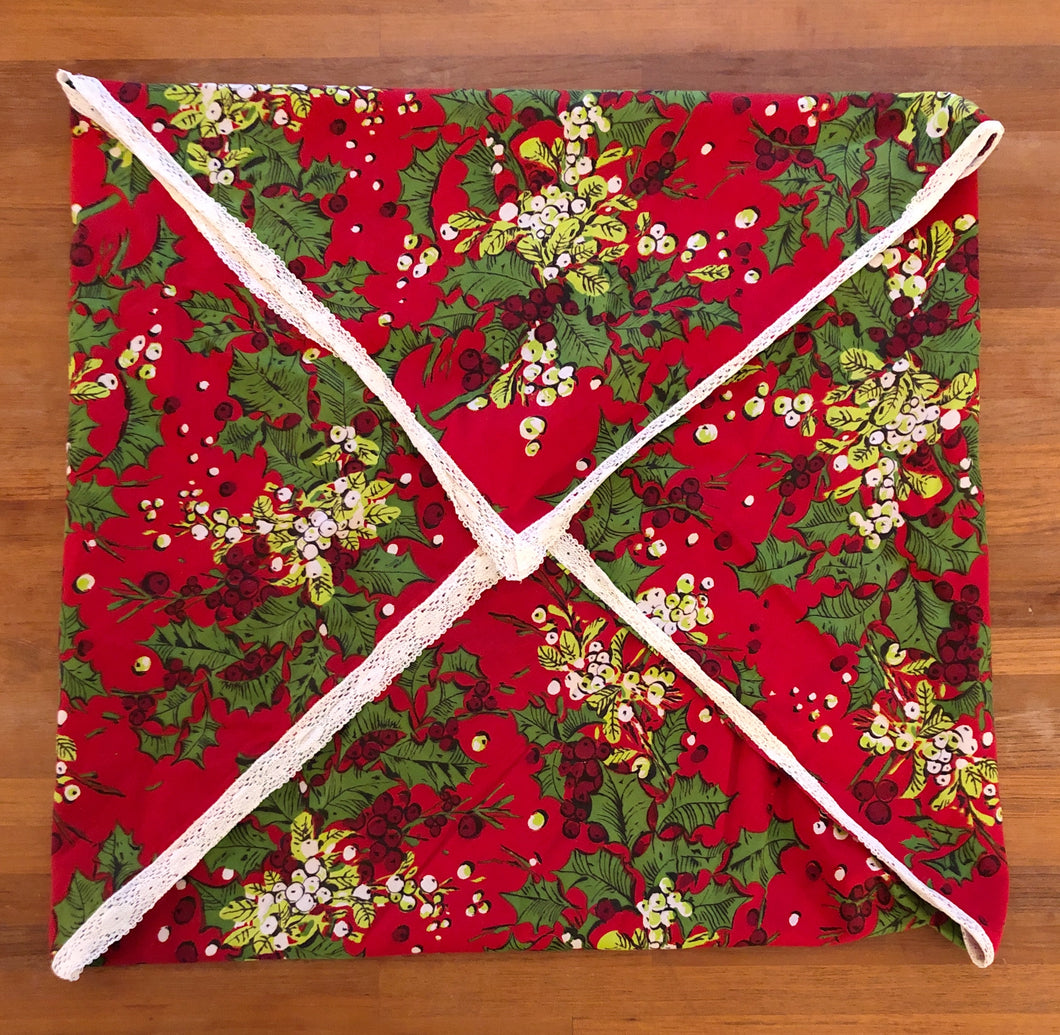 Vintage Christmas Small Square Tablecloth