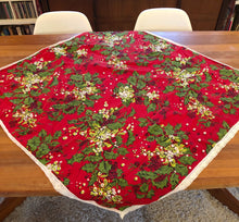 Load image into Gallery viewer, Vintage Christmas Small Square Tablecloth