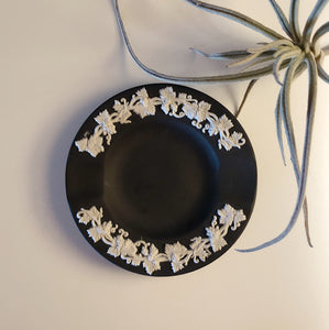 Vintage Wedgwood Matte Black Ashtray