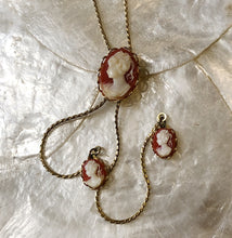 Load image into Gallery viewer, Vintage Cameo Lariat