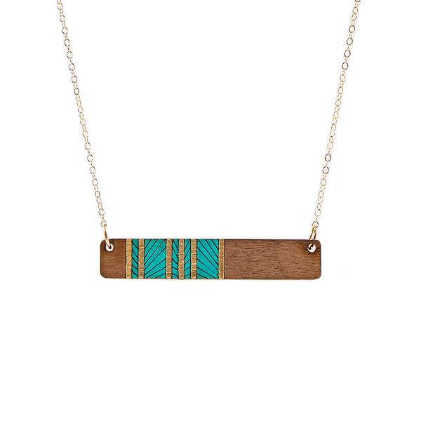 Lines Medium Bar Necklace