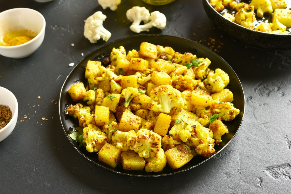 Potatoes & Cauliflower Dish
