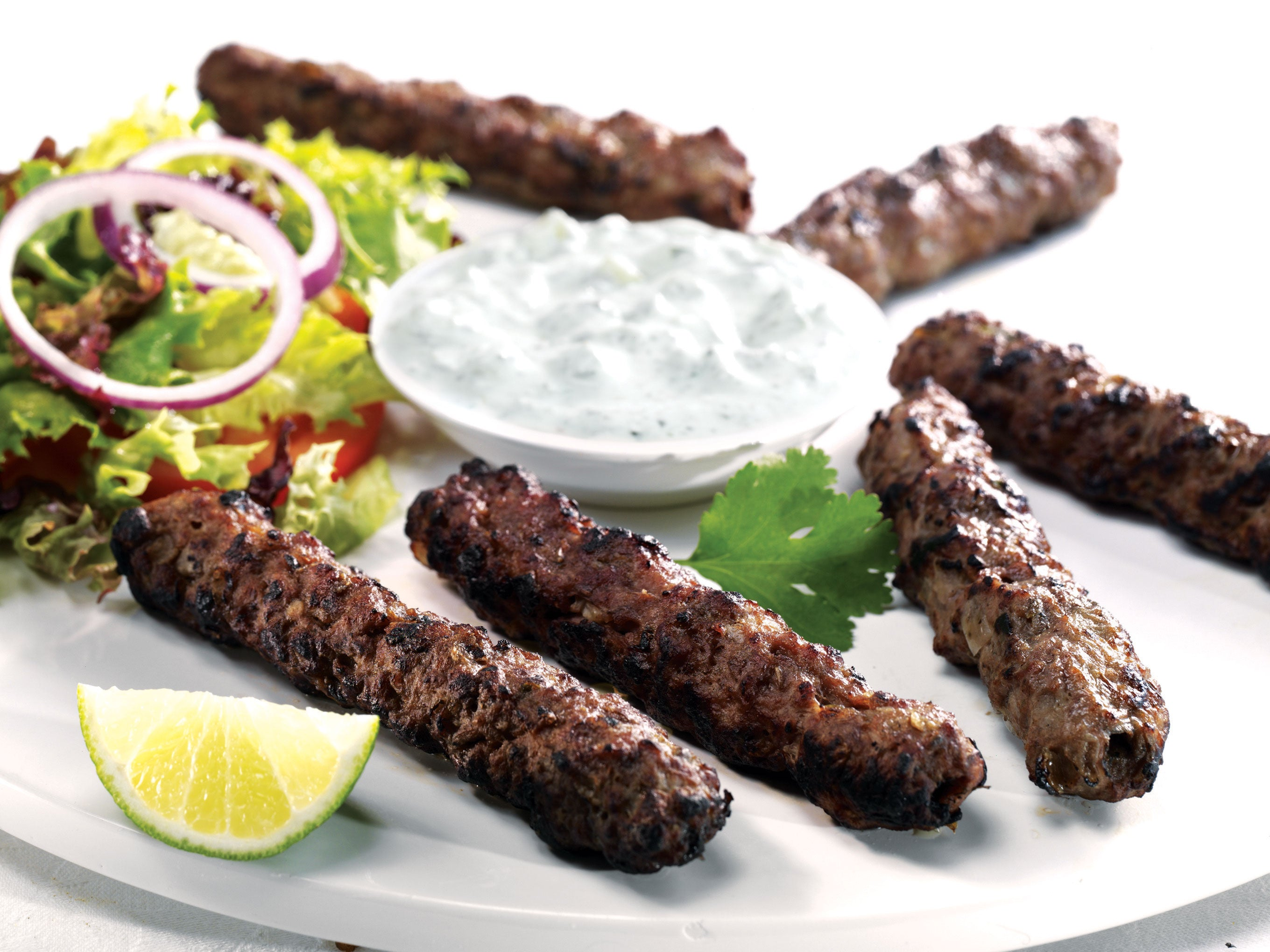 Charcoal Grilled Lamb Seikh Kebab (10Pcs)