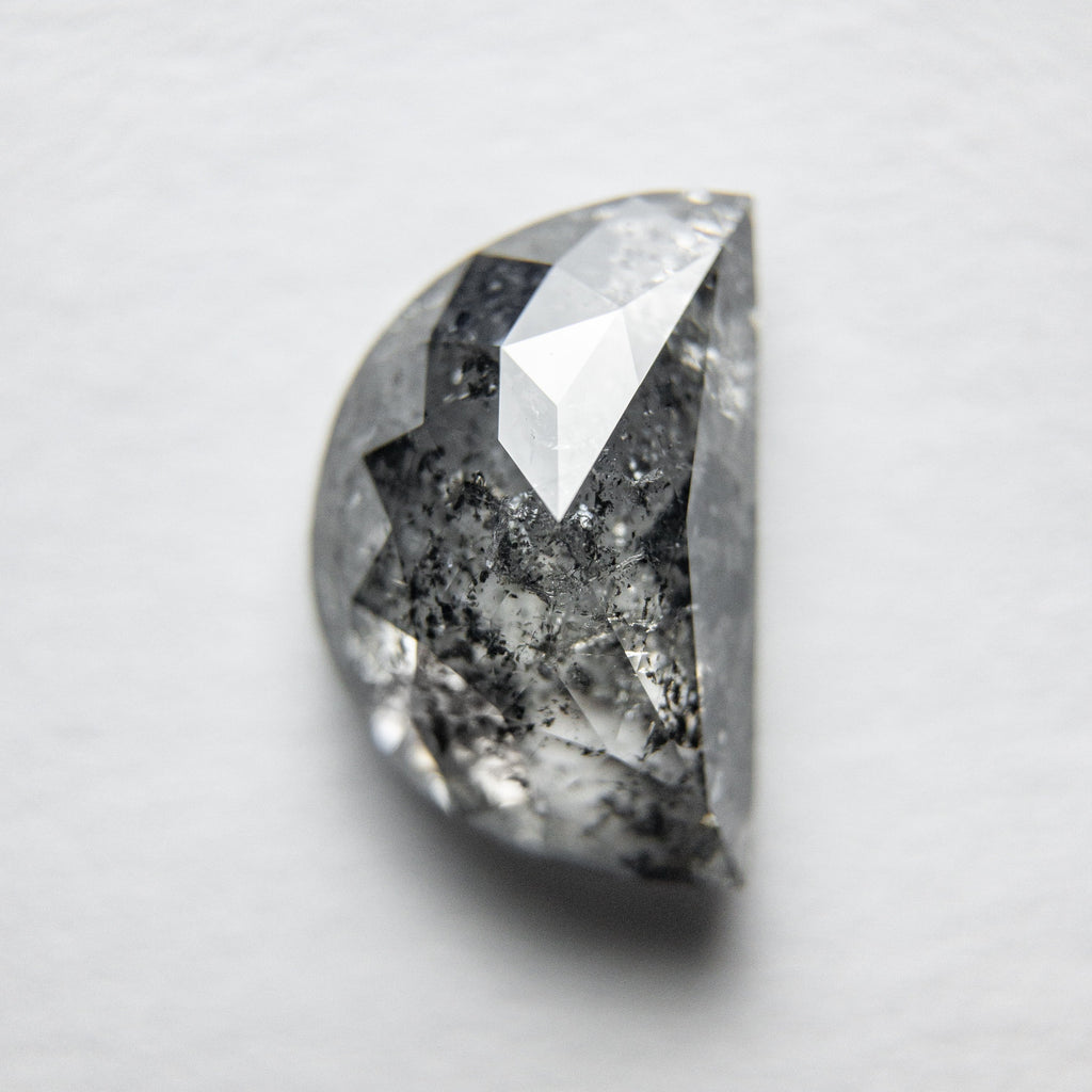 2.87ct Half Moon Rose Cut Diamond