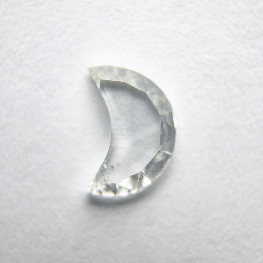 0.86ct Crescent Moon Rose Cut Diamond