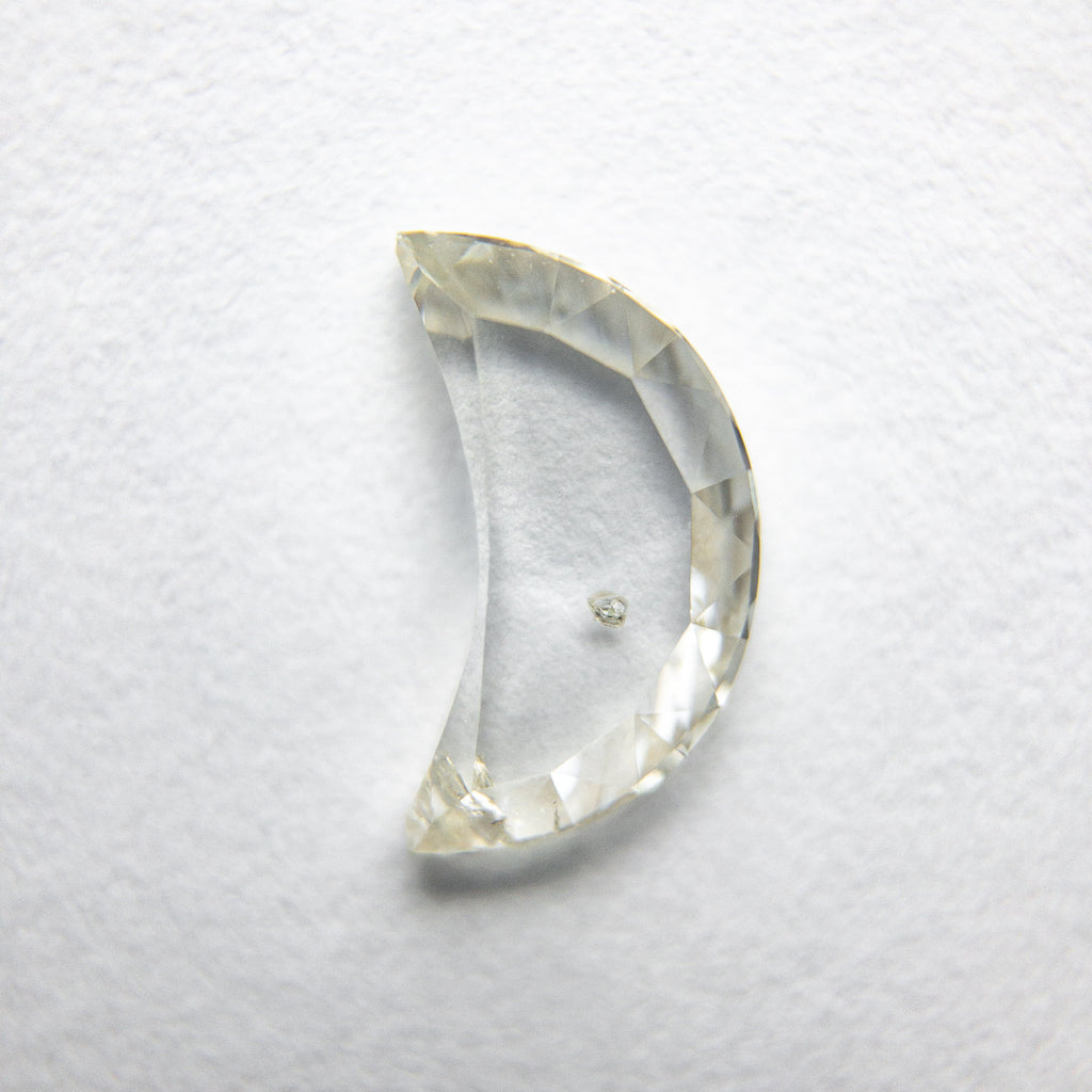 0.87ct Crescent Moon Rose Cut Diamond