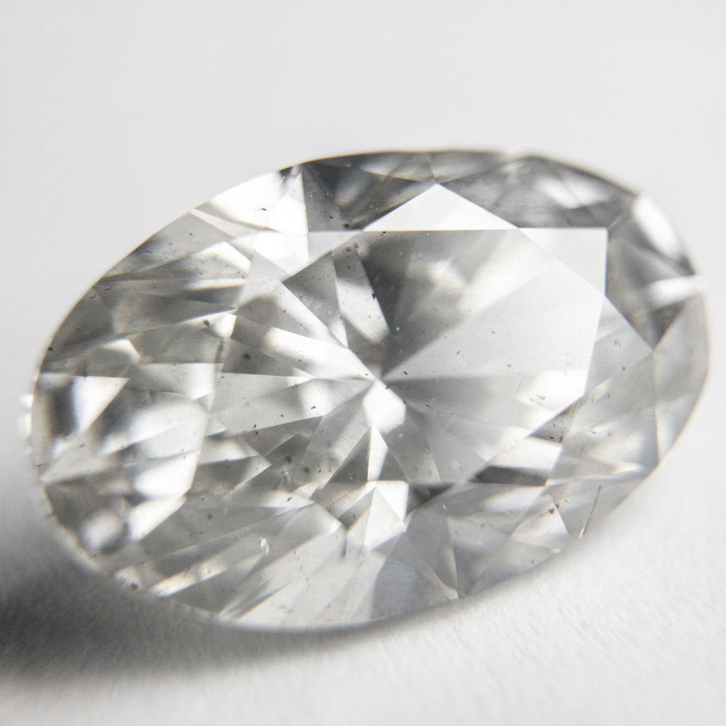 6.22ct Light Grey Oval Brilliant Cut Diamond
