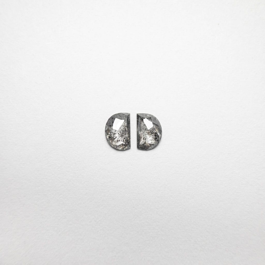 0.53cttw 5.24x3.57x1.41mm Half Moon Rosecut Matching Pair 18493-05