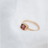 Asteroid Watermelon Tourmaline Ring