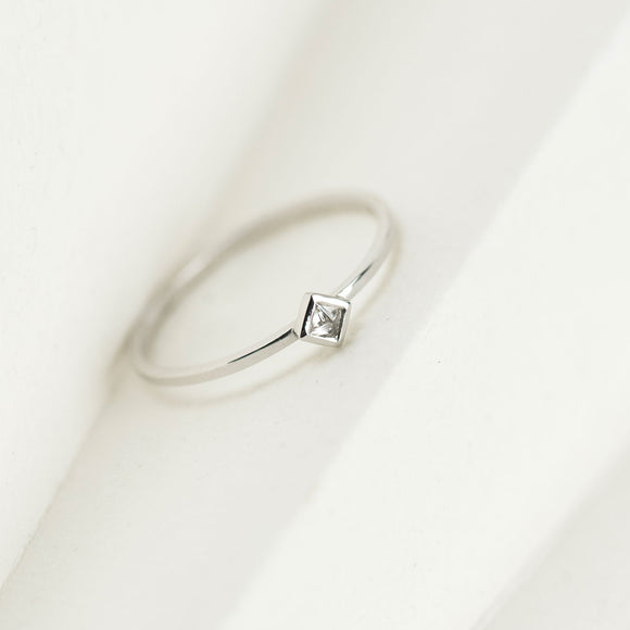 Fan Diamond Stacking Ring