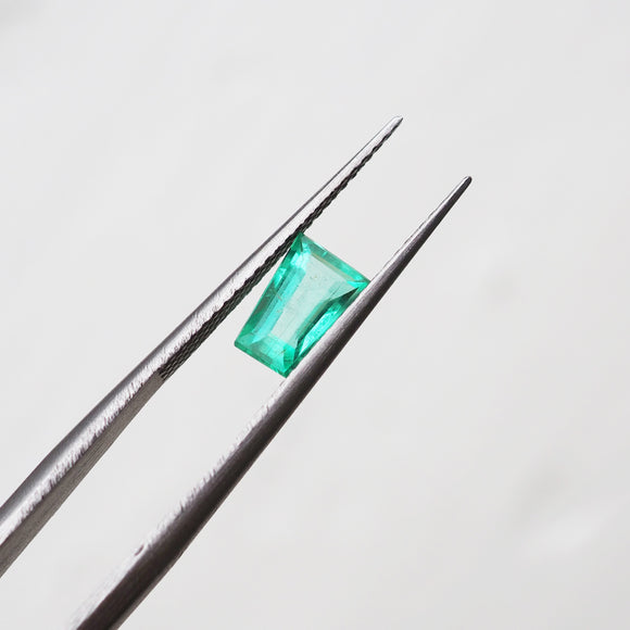 0.84ct Baguette Cut Indian Emerald