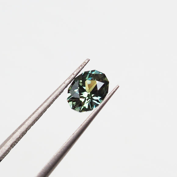 1.00ct Green Australian Sapphire Modified Oval Cut